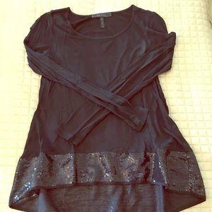 BCBG Max Azria Tunic Sequined Top